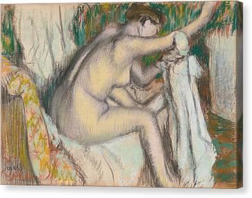 Woman Drying Her Arm Canvas Print by Edgar Degas
