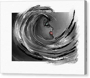 Woman Face Canvas Print
