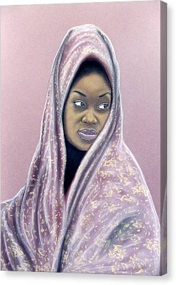Canvas Print featuring the pastel Woman Of The Dust by Jan Amiss