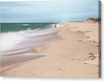 Woman On The Beach Canvas Print