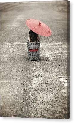 Woman On The Street Canvas Print by Joana Kruse