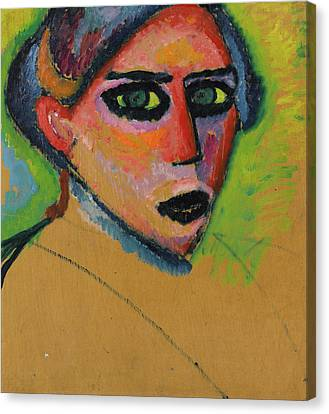 Woman's Face Canvas Print by Alexej von Jawlensky