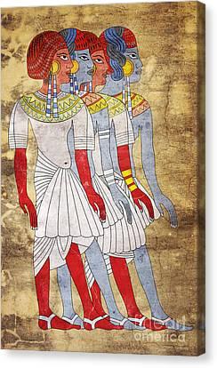 Women Of Ancient Egypt Canvas Print by Michal Boubin