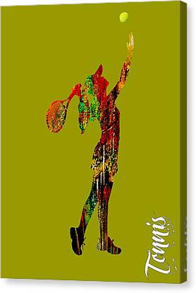 Womens Tennis Collection Canvas Print