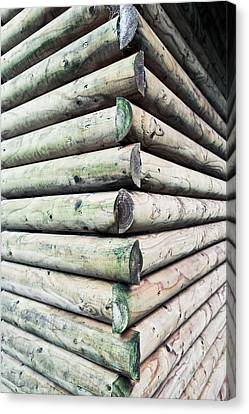 Cabin Wall Canvas Print - Wood Cabin by Tom Gowanlock