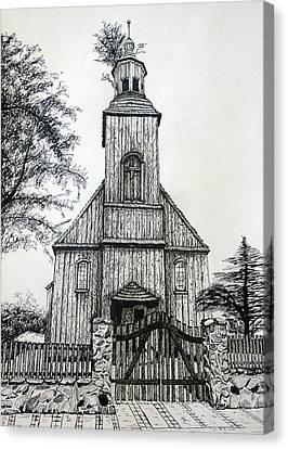 Wooden Church 2 Canvas Print