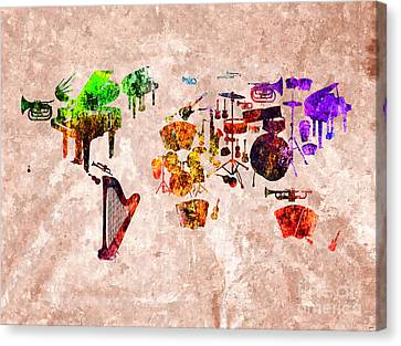 World Music Canvas Print by Daniel Janda