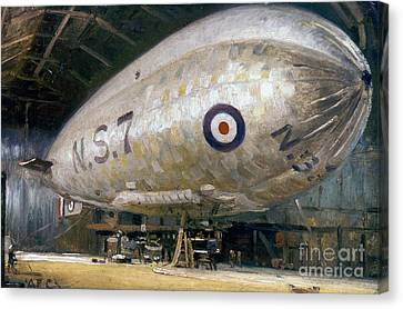 World War I: Airship Canvas Print by Granger
