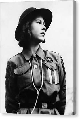 World War II. Future Queen Of England Canvas Print by Everett