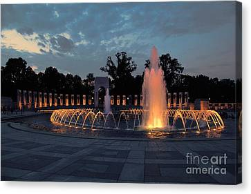 World War II Memorial Fountain Canvas Print