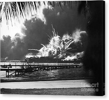 Encbr Canvas Print - World War II: Pearl Harbor by Granger