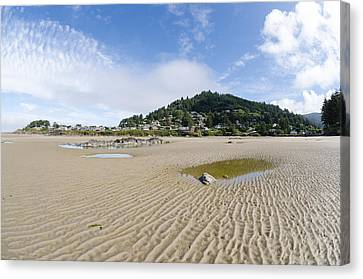 Yachats River At Low Tide Canvas Print