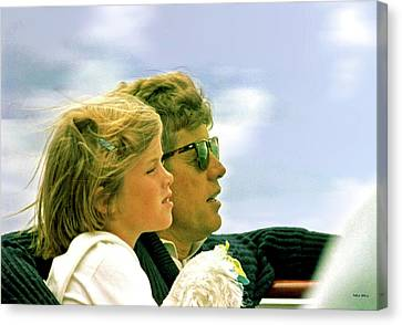 Democrats Canvas Print - Yachting With John F. Kennedy And Caroline, Cape Cod, Ma by Thomas Pollart