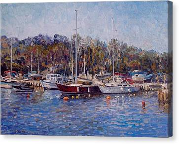 Yahts At The Black Sea Canvas Print by Andrey Soldatenko