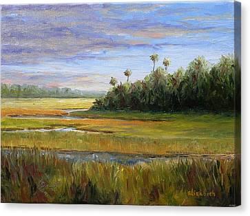 Yellow Marsh Canvas Print by Beth Maddox