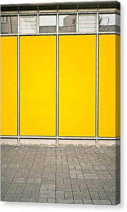 Yellow Panels Canvas Print by Tom Gowanlock