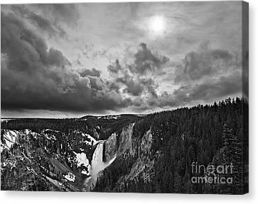 Clearing Canvas Print - Yellowstone Storm by Jamie Pham