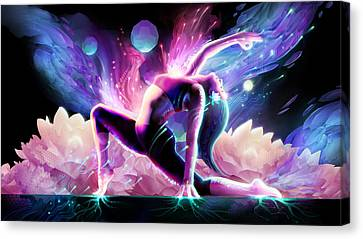 Rooted Canvas Print - Yin Salutation by George Atherton
