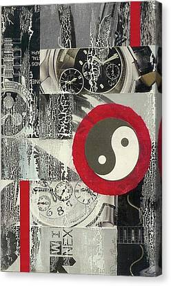 Canvas Print featuring the mixed media Ying Yang by Desiree Paquette