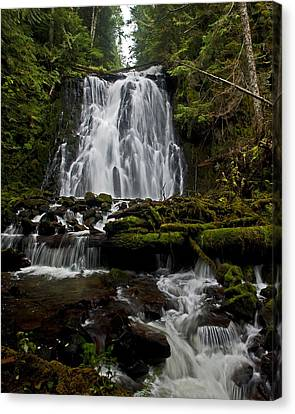 Yocum Falls Oregon Canvas Print by Ulrich Burkhalter