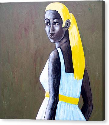 Canvas Print featuring the painting Yolanda by Clarence Major