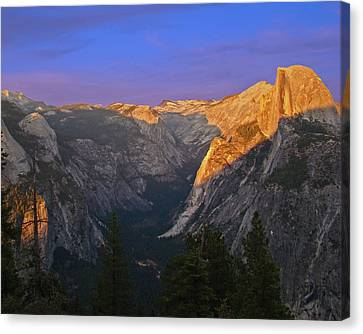 Yosemite Summer Sunset 2012 Canvas Print by Walter Fahmy