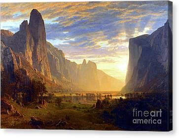Yosemite Valley Canvas Print - Yosemite Valley by Albert Bierstadt