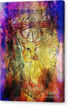 Rack Canvas Print - Young Buck by Maria Urso
