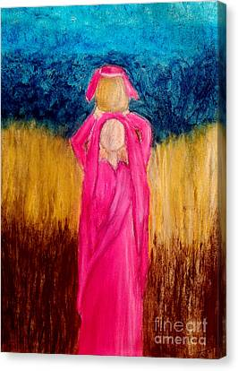 Young Girl Giving Prayer Canvas Print by Ayasha Loya