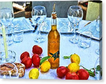 Your Table Is Ready Canvas Print by Allen Beatty
