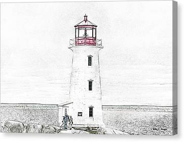 You're My Beacon Peggy's Cove Lighthouse Canvas Print