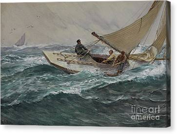 Water Vessels Canvas Print - Youth by Charles Napier Hemy