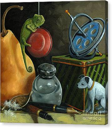 Yoyo Canvas Print by Linda Apple