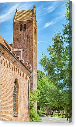 Canvas Print featuring the photograph Ystad Monastery In Sweden by Antony McAulay