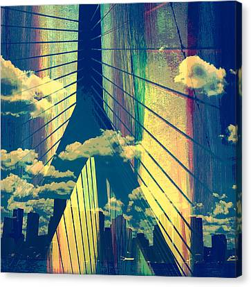 Zakim Bridge Boston V4 Canvas Print