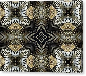 Zebra V Canvas Print by Maria Watt