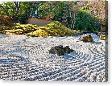 Zen Garden At A Sunny Morning Canvas Print