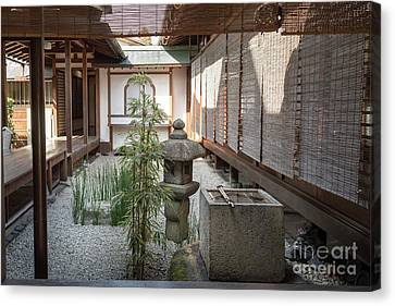 Zen Garden, Kyoto Japan Canvas Print by Perry Rodriguez