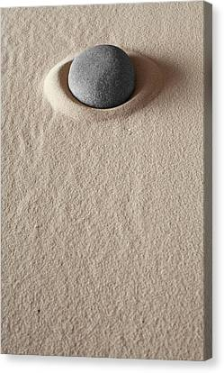 Zen Meditation Stone Canvas Print