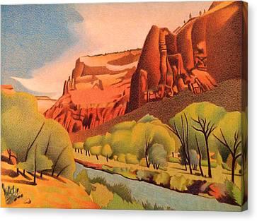 Zion Canyon Canvas Print by Dan Miller