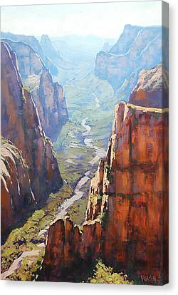 Warm Canvas Print - Zion Canyon by Graham Gercken