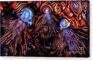 Iridescent Canvas Print - Abstract Jellyfish by Amy Cicconi