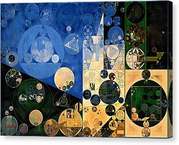 Abstract Painting - Dark Jungle Green Canvas Print by Vitaliy Gladkiy