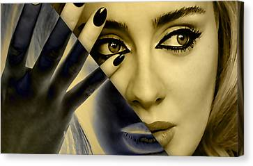 Adele Canvas Print - Adele Collection by Marvin Blaine