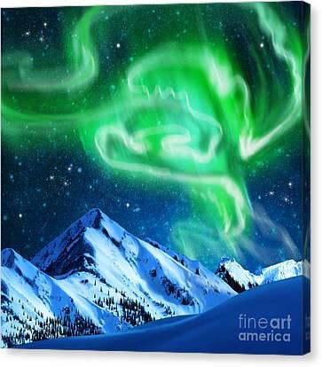 Aurora Borealis Canvas Print by Setsiri Silapasuwanchai