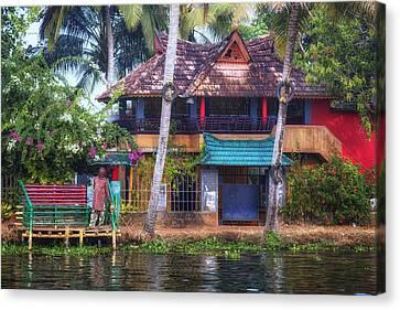 Haus Canvas Print - Backwaters Kerala - India by Joana Kruse