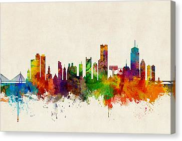 Usa Canvas Print - Boston Massachusetts Skyline by Michael Tompsett