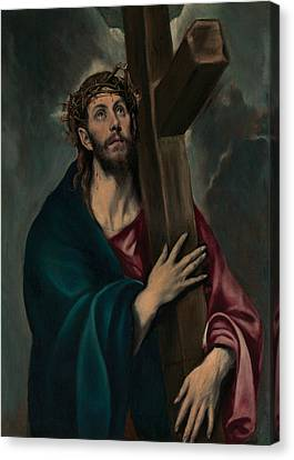 Christ Carrying The Cross Canvas Print by El Greco