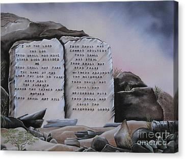 10 Commandments Canvas Print by RJ McNall
