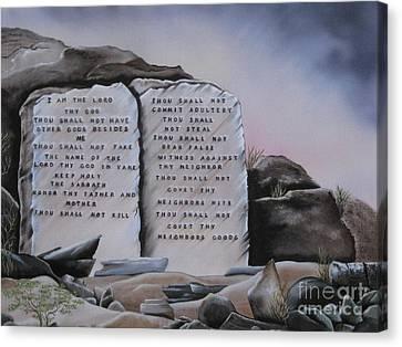 10 Commandments Canvas Print by RJ McNall